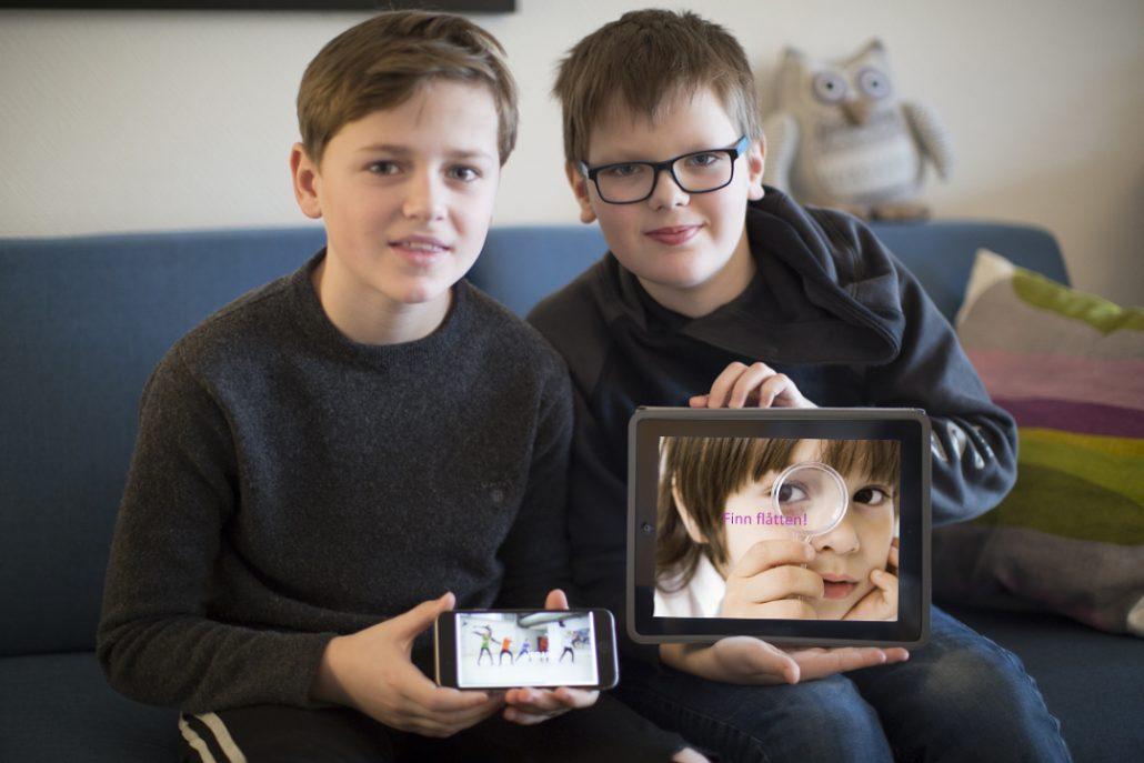 Per Sikveland Johnsen og Harald Ekornåsvåg fra Norge tester ut e-læringskurset om flått. Foto: Anette Strømsbo Gjørv